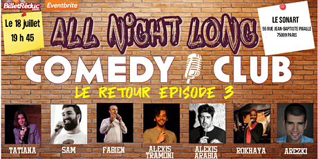 All night long comedy club - le retour billets