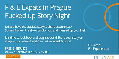 F & E Expats in Prague - Fucked up Story Night tickets