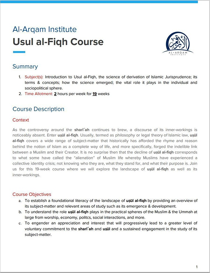 Introduction to Usul al-Fiqh image
