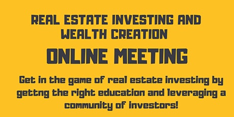 Online Real Estate Investing Event tickets