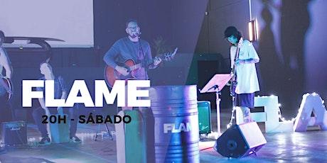 CULTO FLAME - SÁBADO - 20H (Culto de Jovens) 18.07 ingressos