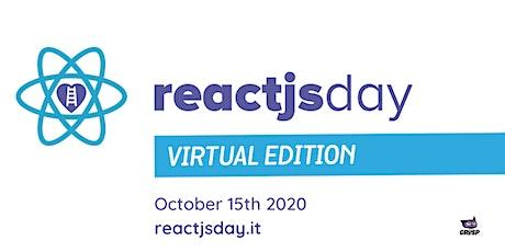 reactjsday 2020 - Virtual Edition tickets