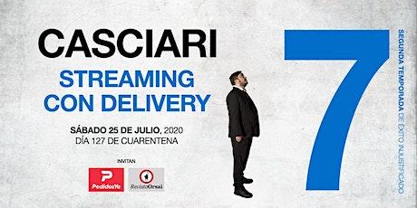 HERNÁN CASCIARI: «Streaming con Delivery» — SÁBADO 25 JULIO boletos