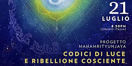 """Conferenza Gratuita """"Codici Di Luce e Ribellione Cosciente"""" biglietti"""