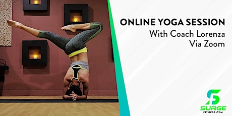 Online Yoga Class with Coach Lorenza tickets