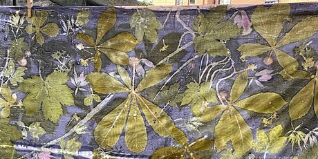 Botanical Printing on textile with Natural dyes online workshop (bilingual) billets