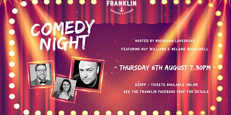 Comedy Night: Brendhan Lovegrove, Guy Williams & Melanie Bracewell tickets