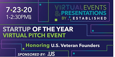 Startup of the Year Online Pitch Event | Honoring U.S. Veteran Founders tickets