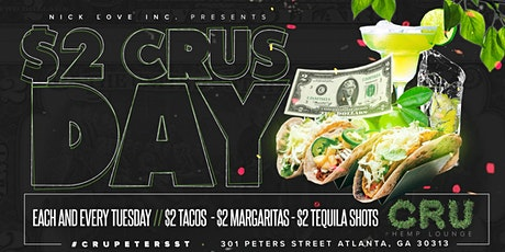 $2 CRUSDAY on Peters St tickets