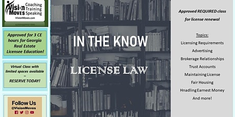 In the Know - License Law tickets