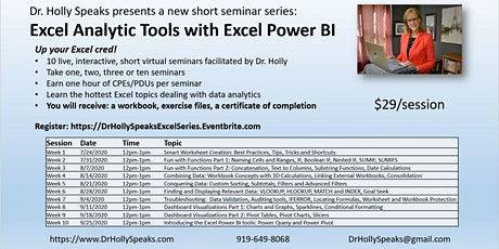 Excel Analytic Tools with Power BI tickets