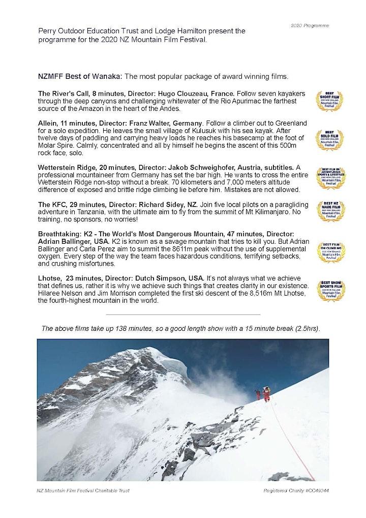 2020 NZ Mountain Film Festival Tour image