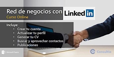 Red de negocios con LinkedIn boletos