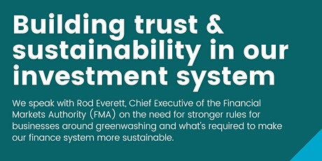 Building trust and sustainability in our investment system tickets