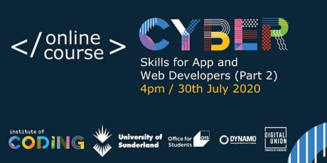 Cyber Skills for App and Web Developers (Part 2) tickets