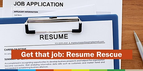 Get that Job: Resume Rescue - North Lakes Library tickets