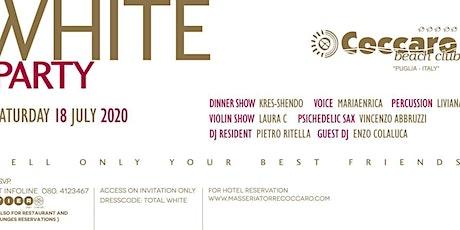 WHITE PARTY -  COCCARO BEACH CLUB biglietti