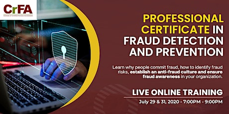 Professional Certificate in Fraud Detection and Prevention tickets