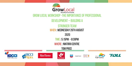 Grow Local Workshop - THE IMPORTANCE OF PROFESSIONAL DEVELOPMENT – Building tickets