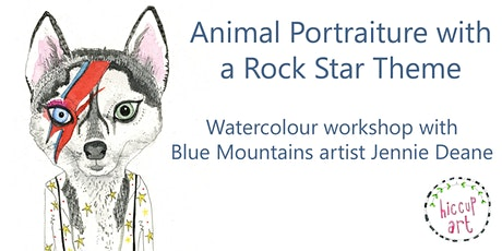 Animal Portraiture with a 'Rock Star' theme with Jennie Deane of Hiccup Art tickets