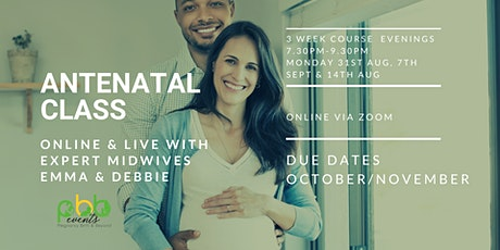 Antenatal Classes for Due dates in October/November tickets