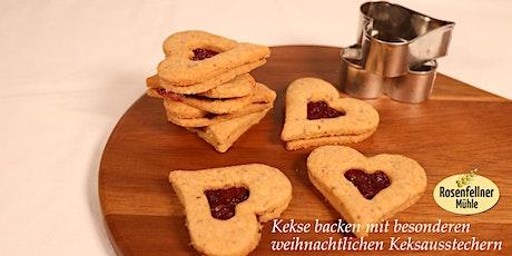 Kekse backen mit besonderen weihnachtlichen Keksausstechern Tickets
