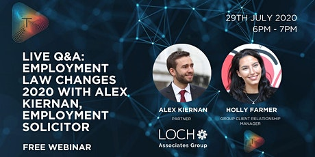 Live Q&A: Employment  Law Changes 2020 with Alex Kiernan tickets