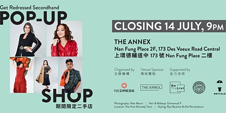 Get Redressed Secondhand Pop-up Shop The Annex, Hong Kong tickets
