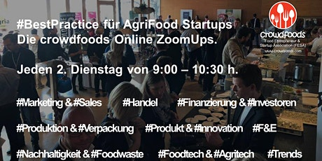 AgriFood Startup #ZoomUp Vol. 14: #Best Practice:  Food Produktmanagement Tickets
