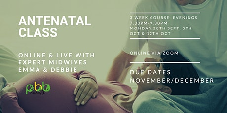 Antenatal Classes for Due dates in November/December tickets