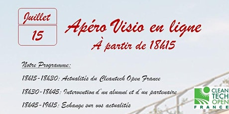 Apéro Visio Alumni Cleantech Open France tickets
