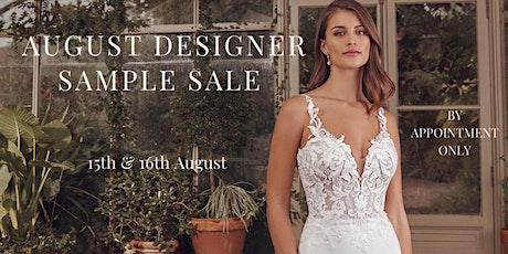 August Designer Sample Sale tickets