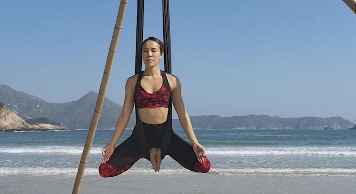 Beach Aerial Yoga Workshop all levels (November & December) image