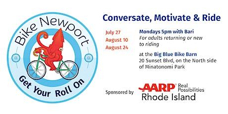 Conversate, Motivate & Ride tickets
