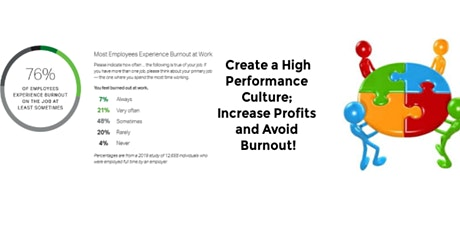 Create a High Performance Culture, Increase Profits and Avoid Burnout! tickets