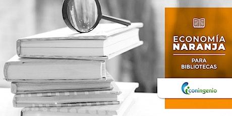 Programa  Economía Naranja para Bibliotecas entradas