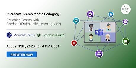 Microsoft Teams Meets Pedagogy with FeedbackFruits Tool Suite   Webinar tickets