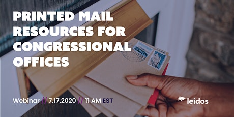 Printed Mail Resources for Congressional Offices tickets