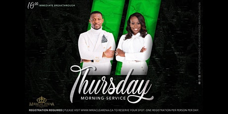 Miracle Arena Thursday Immediate Breakthrough Service tickets