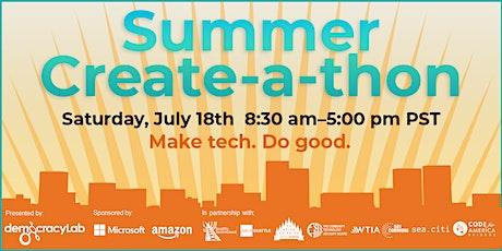Summer Create-a-thon tickets