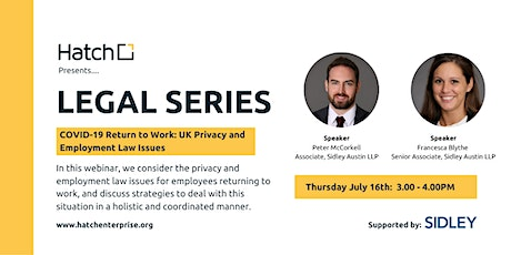 COVID-19 – Return to Work: UK Privacy and Employment Law Issues tickets