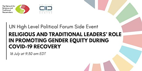 HLPF 2020 : Promoting Gender Equity during COVID-19 tickets