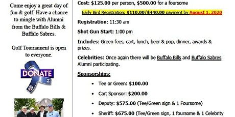 2020 New York State Deputies Celebrity Golf Classic tickets