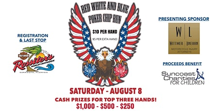 """Red, White, and Blue"" Poker Chip Run tickets"