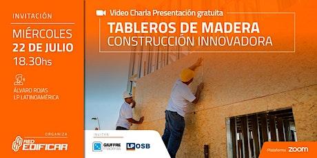 "Video Charla Técnica ""Tableros de Madera"". Red Edificar entradas"