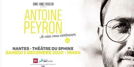 """Antoine Peyron dans """"Je vais vous cartonner"""" (44) NANTES billets"""