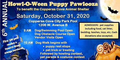 6th Annual Copperas Cove Howl-O-Ween Puppy Pawlooza--VENDOR REGISTRATION tickets