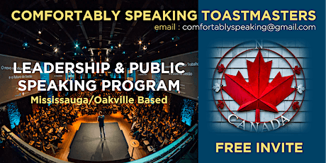 Public Speaking & Leadership Training in Missisauga & Oakville, Canada tickets