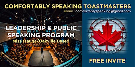 Public Speaking & Leadership Training in Missisauga & Oakville, Canada tickets