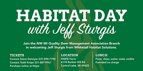 Northwest Michigan QDMA Habitat Seminar & Tour with Jeff Sturgis! tickets